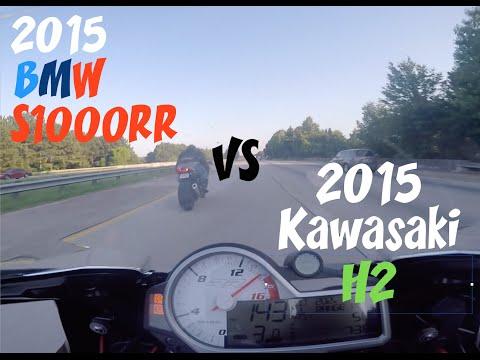 2015 Kawasaki H2 VS 2015 BMW S1000RR *Rematch*