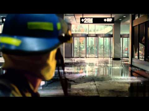 """Clip from Movie """"World Trade Center"""" - Scene inside the tower collapse"""
