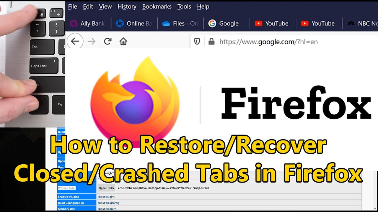 How To Recover Restore Previous Session Tabs In Firefox After Crashing Or Closing Youtube