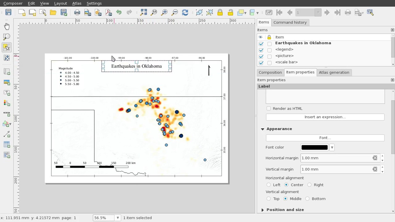 QGIS Frame, Title and Export