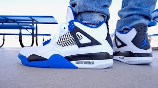 AIR JORDAN MOTORSPORT 4 IV EARLY LOOK UP CLOSE ON FOOT REVIEW !!!