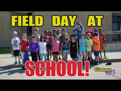 Field Day at School with fun outdoor games for kids and Tug a war - Gianna Time