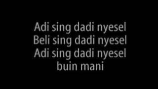 KIS BAND- SABAR With Lyric