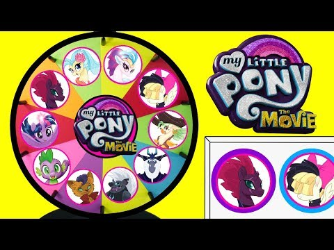 MY LITTLE PONY THE MOVIE 2017 Spinning Wheel Game Punch Box Toy Surprises