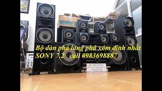 Phá làng phá xóm Dàn Sony 7.2 ( 2 amly + 9 loa) Thắng Audio 0983698887