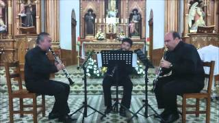 Trio de clarinetas - Jacques Bouffil Op. 7 n. 2 - 1o Movimento - Allegro ma non troppo