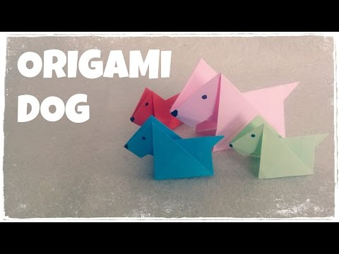 Origami - Cách gấp con chó bằng giấy