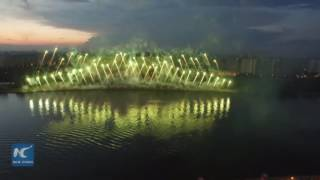 Stunning fireworks display lights up Moscow sky