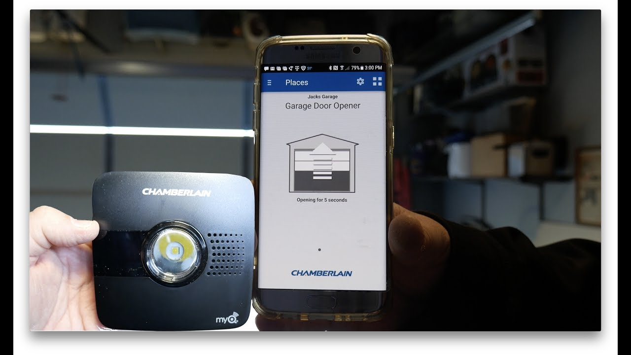 myq garage door openerChamberlain MyQ Garage Door Opener  YouTube