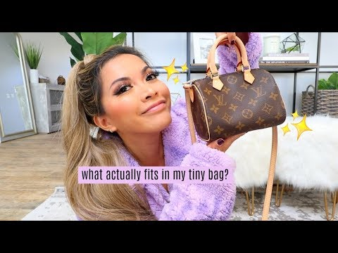 WHAT'S IN MY TINY BAG? Louis Vuitton Speedy Nano 2019