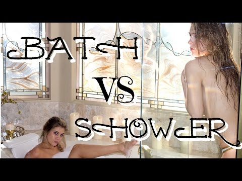 LUXURY BATH VS SHOWER ROUTINE | Caci Twins