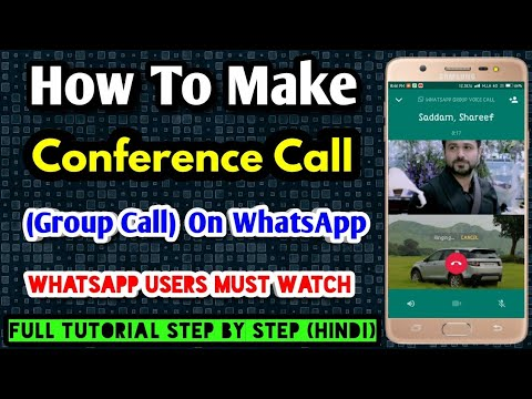 How To Make Conference Call On Whatsapp (Hindi)   Make Group Voice Call On Whatsapp Full Tutorial 🔥