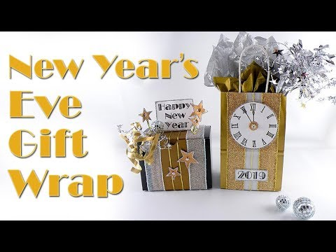 DIY New Year's Gift Wrap