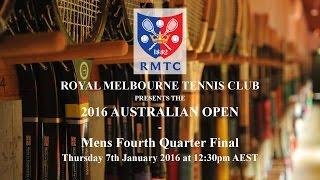 2016 australian open mens singles 4th qf j lumley vs k booth