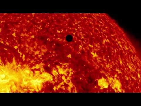 See a giant sunspot: spinning through the sun in amazing NASA video.
