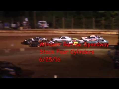 Winder Barrow Speedway Stock Four Cylinder Race 6/25/16