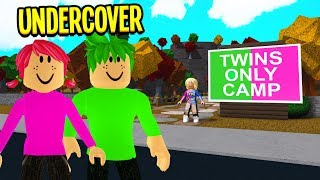 They Ran A TWINS ONLY Camp.. We Found THIS Under The Cabins.. (Roblox Bloxburg)