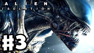Alien: Isolation - Gameplay Walkthrough Part 3 - Alien Encounter! (PC Gameplay with Facecam)
