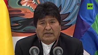 Evo Morales denuncia un
