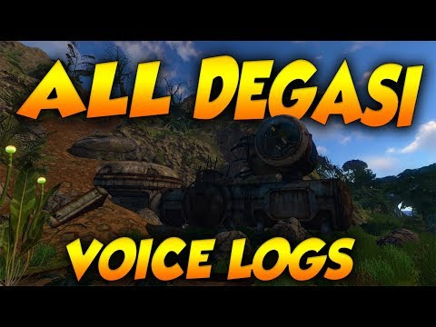 ALL DEGASI VOICE LOGS (NEW WITH VOICE ACTING) | Subnautica