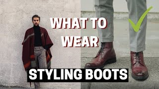 How to Style Boots: Mens Outfit Ideas for Chelsea, Combat and Dress Boots