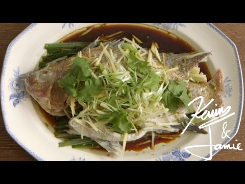 Steamed Fish With Ginger And Spring Onion