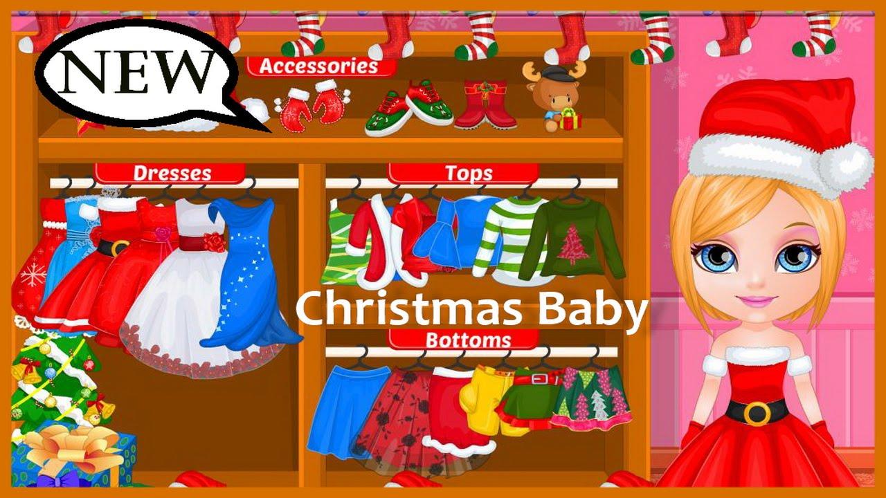 Baby Barbie Christmas Prep Video Play-Baby Barbie Movie Games ...