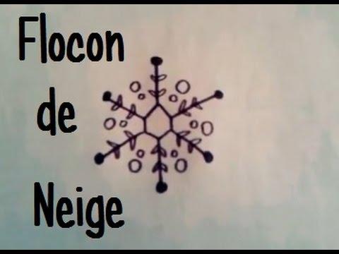 Dessiner un flocon de neige version 2 youtube - Gabarit flocon de neige a decouper ...