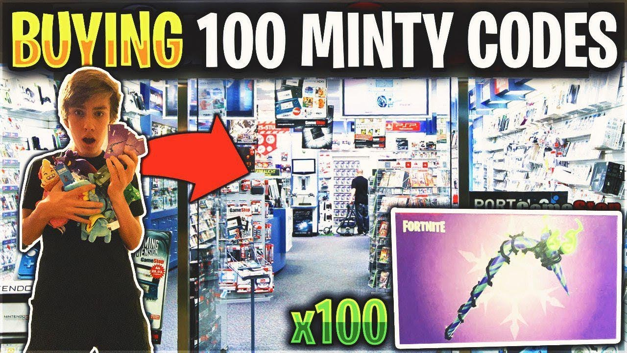 So I Bought 100 Minty Pickaxe Codes From Gamestop