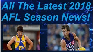 All The Latest 2018 AFL News! 9/8/18 AFL CHANGES DRAFT RULES! & GAFF HIT WITH 8 WEEK BAN!