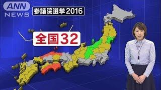 与党の勝敗ラインは61議席です。今回の参議院選挙は、鳥取・島根と徳島...