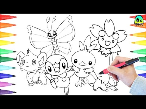 Pokemon Friends Coloring Book Fun I Coloring Videos for Kids - YouTube