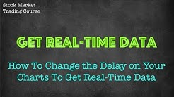 How to change the delay on your charts to have realtime data | Free stock course | Stock Market