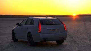 Top Speed In A Cadillac Cts-V Wagon And Corvette. On Dirt.