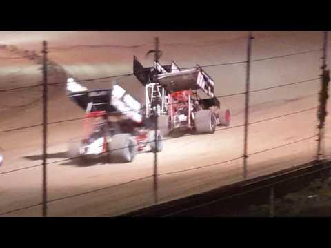 I-96 speedway 6-23-17 sprint car crash over fence