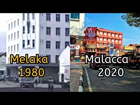 beza Bandar MELAKA tahun 1980 dan 2020 - lalu tempat menarik di Melaka