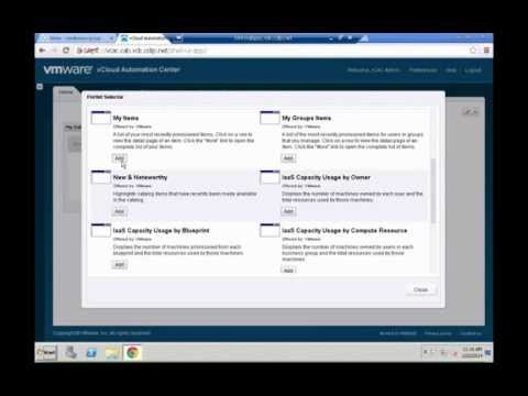 VMware vCAC 6.0 - Basic Reporting and Custom Dashboard by Yves Sandfort