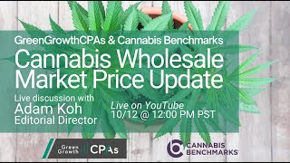 Cannabis Wholesale Market Price Update – with Adam Koh from Cannabis Benchmarks