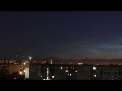 видео: Серебристые облака таймлапс
