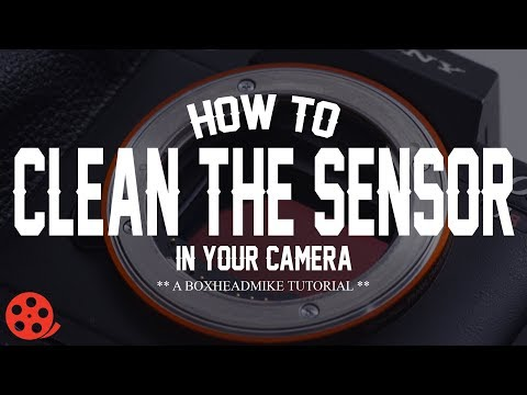 How to clean the sensor in your camera