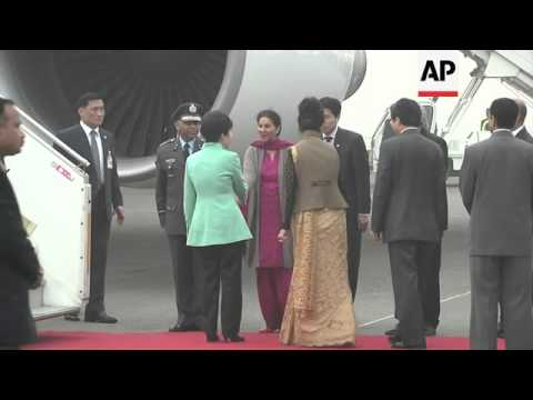 President of South Korea arrives for four-day visit