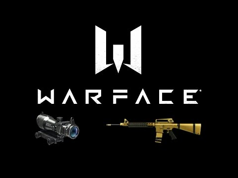 Warface R16/M16A4 Gold 3x Scope [#9]