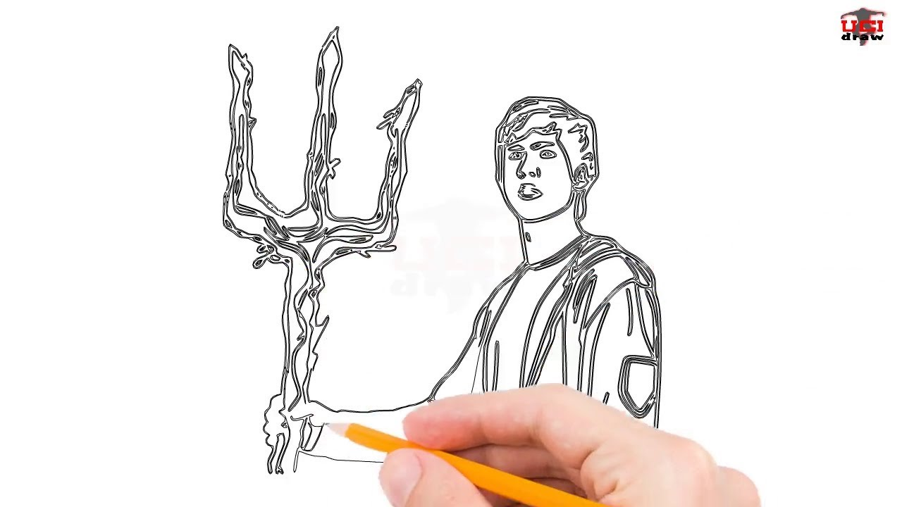 How To Draw Percy Jackson Step By Step Easy For Beginners Kids Simple Percy S Drawing Tutorial
