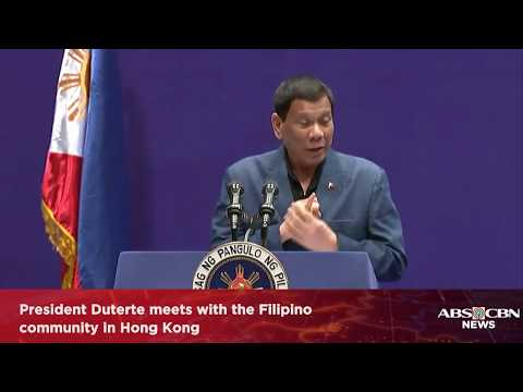 WATCH: President Duterte meets with the Filipino community in Hong Kong | 12 April 2018