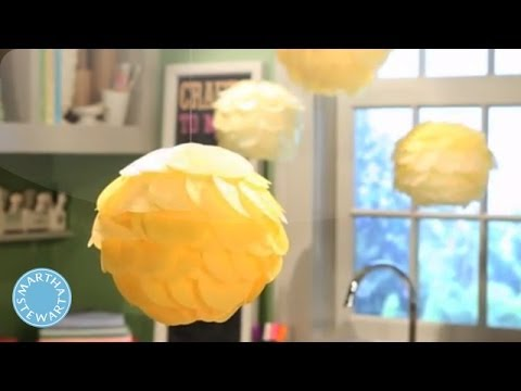 Simple Scalloped Tissue Paper Lanterns - Martha Stewart