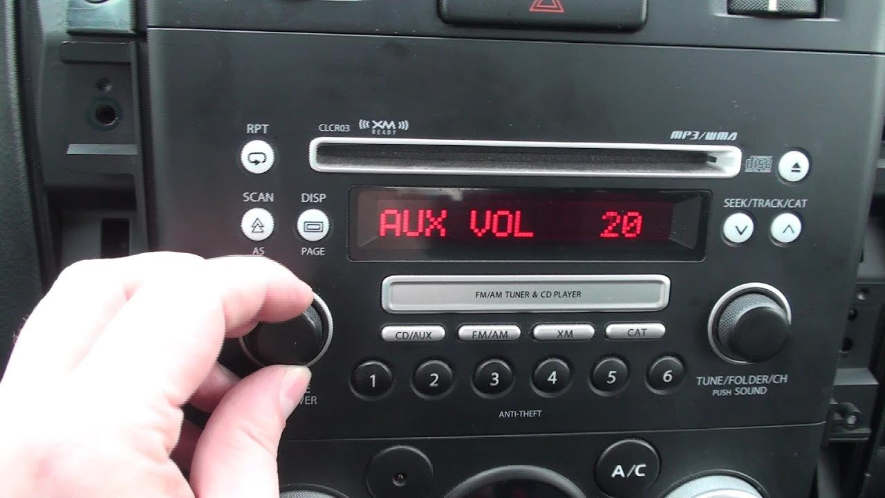 hight resolution of suzuki aux stereo input mod