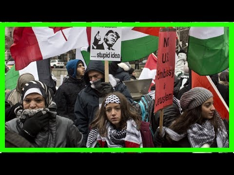 Headline News - The local Palestinian Rights Group protests for trump: hands off jerusalem – la tim