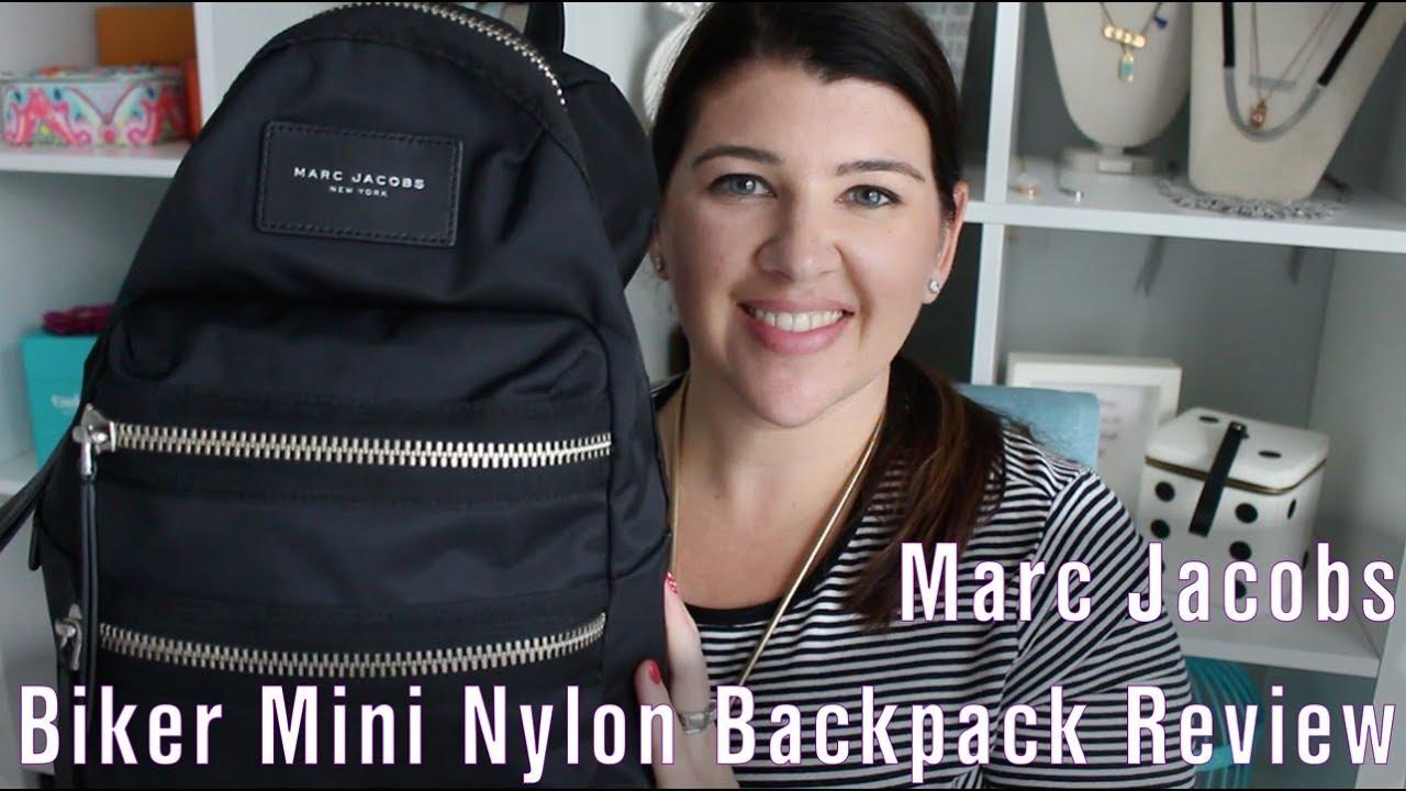 8ccc0df012cc Marc Jacobs Biker Mini Nylon Backpack Review - YouTube