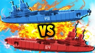 THE BATTLE OF LUCK! | Minecraft RED vs BLUE BATTLESHIPS!