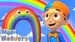 Blippi Wonders - Blippi Learns Rainbow Colors!   Blippi Animated Series   Cartoons For Kids